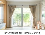 curtain interior decoration in... | Shutterstock . vector #598321445