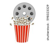 color movie film clipart with...