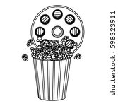 movie film clipart with pop...