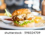 Fried Chicken Burger With...