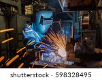 industrial worker at the...   Shutterstock . vector #598328495