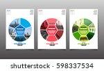 poster   flyer template  circle ... | Shutterstock .eps vector #598337534