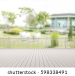 balcony and terrace of the blur ... | Shutterstock . vector #598338491