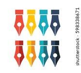 penthin line icon for website... | Shutterstock .eps vector #598338671