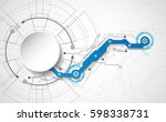 abstract technological... | Shutterstock .eps vector #598338731