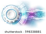 abstract technology speed... | Shutterstock .eps vector #598338881