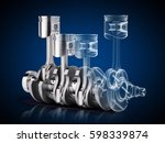 V4 Engine Pistons And...