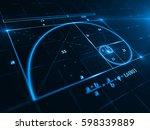golden ratio   3d rendering | Shutterstock . vector #598339889