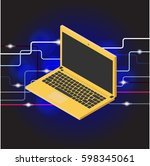 vector laptop on a background | Shutterstock .eps vector #598345061