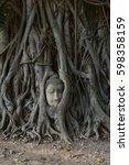 the head of buddha image  ... | Shutterstock . vector #598358159