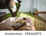tea pot on the table  | Shutterstock . vector #598362875