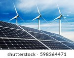 photo collage of solar panels... | Shutterstock . vector #598364471