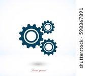 Gear Icon Vector  Flat Design...