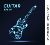 the guitar is composed of... | Shutterstock .eps vector #598377344