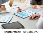 image of human hands during... | Shutterstock . vector #598381697