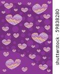 violet hearts background texture | Shutterstock . vector #59838280