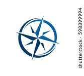 compass logo template | Shutterstock .eps vector #598399994