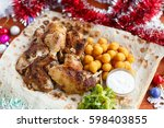 new year and christmas  menu...   Shutterstock . vector #598403855