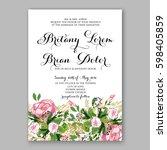 wedding invitation card...   Shutterstock .eps vector #598405859