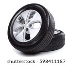 car wheels on white background   Shutterstock . vector #598411187