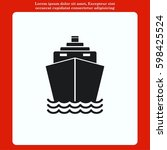 ship icon  vector illustration. ... | Shutterstock .eps vector #598425524