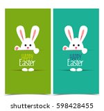 vector illustration easter... | Shutterstock .eps vector #598428455