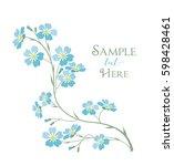 vector illustration blue... | Shutterstock .eps vector #598428461