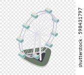 Ferris Wheel Isometric Icon 3d...