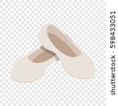 white ballet shoes isometric... | Shutterstock . vector #598433051