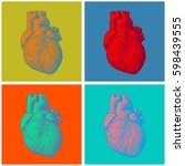 engraving human heart...   Shutterstock .eps vector #598439555