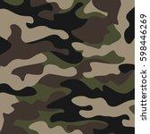 camouflage pattern background.... | Shutterstock .eps vector #598446269