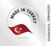 made in turkey transparent logo ... | Shutterstock .eps vector #598446395