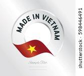 made in vietnam transparent... | Shutterstock .eps vector #598446491