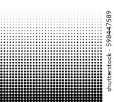 abstract halftone pattern... | Shutterstock .eps vector #598447589