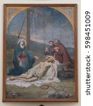 Small photo of SHKODER, ALBANIA - SEPTEMBER 30: The Lamentation of Christ, St Stephen's Cathedral in Shkoder, Albania on September 30, 2016.