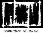 grunge black and white urban... | Shutterstock .eps vector #598452461