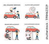car service set on white... | Shutterstock .eps vector #598462319