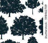 seamless pattern with tree... | Shutterstock .eps vector #598462709