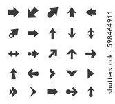 arrow icon set   simple vector... | Shutterstock .eps vector #598464911