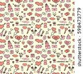wedding seamless pattern | Shutterstock .eps vector #598473779