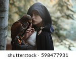 Mysterious Woman With Hawk....