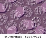 vector seamless pattern with... | Shutterstock .eps vector #598479191