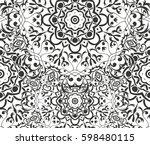 seamless floral pattern motif... | Shutterstock .eps vector #598480115