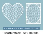 abstract cutout panel and heart ... | Shutterstock .eps vector #598480481