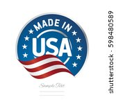 Made In Usa Label Logo Stamp...