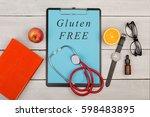 medecine concept   clipboard... | Shutterstock . vector #598483895