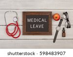 medecine concept   blackboard...   Shutterstock . vector #598483907
