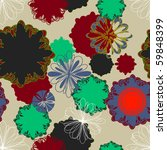 floral seamless pattern in...   Shutterstock .eps vector #59848399