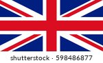 great britain flag 3d... | Shutterstock . vector #598486877
