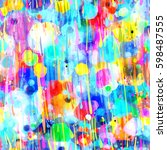 rainbow spots and strokes like... | Shutterstock .eps vector #598487555